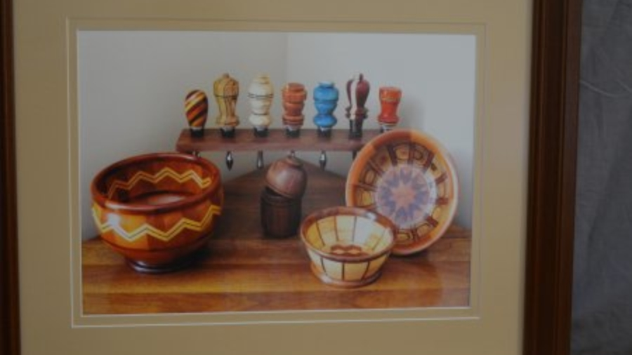 Photograph displaying some of John Thornton's favorite turnings
