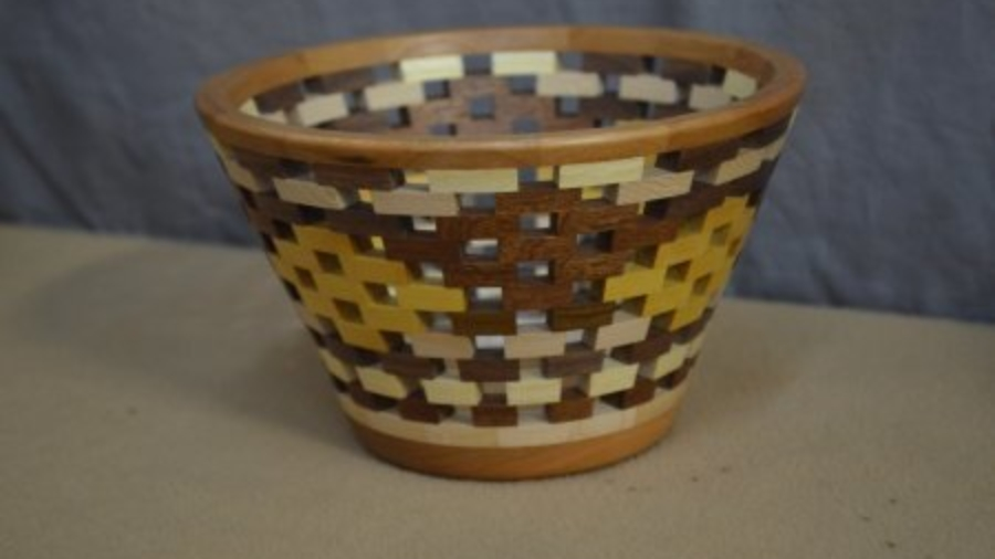 Open segmented bowl by Mikeal Jones